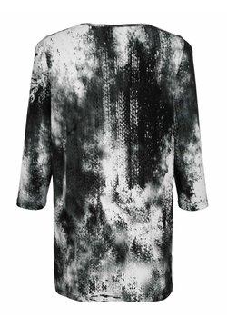 MIAMODA - Bluse - grau weiß schwarz