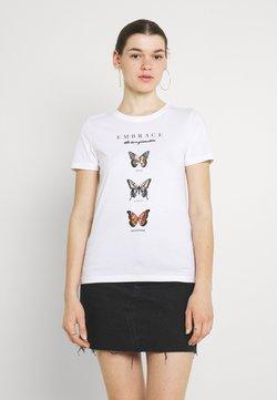 ONLY - ONLKITA LIFE - T-shirt con stampa - bright white