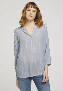 TOM TAILOR - Bluse - blue stripe vertical
