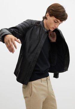 Mango - APOLLO7 - Leather jacket - noir