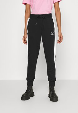 Puma - ICONIC TRACK PANTS - Jogginghose - black