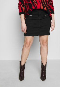 Missguided Plus - SUPERSTRETCH SKIRT - Jeansrock - black