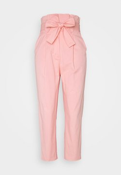 Lost Ink Petite - TIE WAIST PEG TROUSER - Pantalones - pink