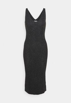 pure cashmere - MAXI SLEEVELESS PATTERNED DRESS - Vestido de punto - graphite