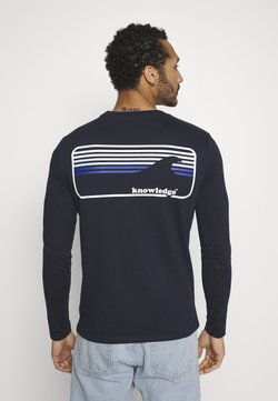 KnowledgeCotton Apparel - SALLOW SIGNUTURE WAVE - Long sleeved top - total eclipse