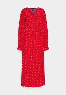 Gap Tall - WRAP DRESS - Freizeitkleid - red