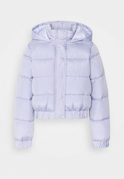 Missguided Petite - HOODED PUFFER - Winterjacke - lilac