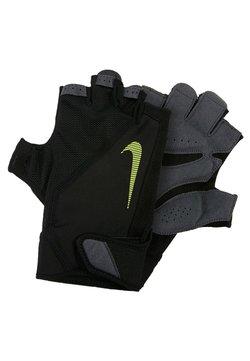 Nike Performance - MEN´S ELEMENTAL FITNESS GLOVE - Fingervantar - black/dark grey/black/volt