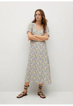 Mango - Korte jurk - blanco roto