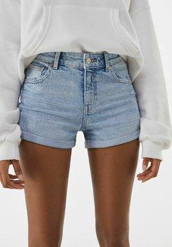 Bershka - Jeans Shorts - blue denim