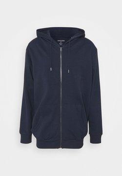 Jack & Jones - JJEBASIC ZIP HOOD - Bluza rozpinana - navy blazer