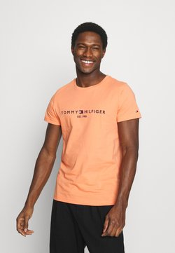 Tommy Hilfiger - LOGO TEE - T-shirt z nadrukiem - summer sunset