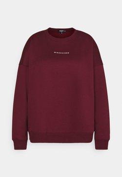 Missguided Plus - BASIC - Sweatshirt - wine
