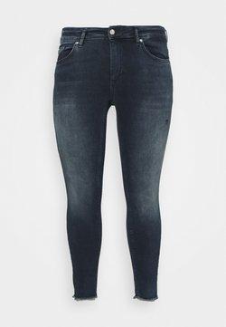 ONLY Carmakoma - CARWILLY LIFE RAW  - Jeans Skinny Fit - dark blue denim