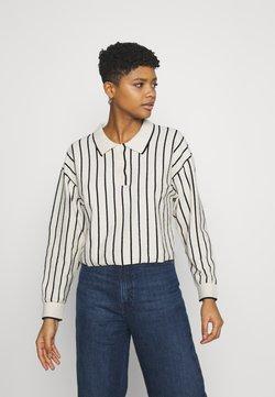 Weekday - HELGA - Strickpullover - white/ black stripe