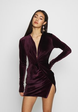 Club L London - TWIST FRONT MINI DRESS - Cocktail dress / Party dress - purple