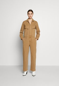 Marc O'Polo - OVERALL WORKWEAR INSPIRED LONG SLEEVE ZIP POCKE - Combinaison - mild tobacco