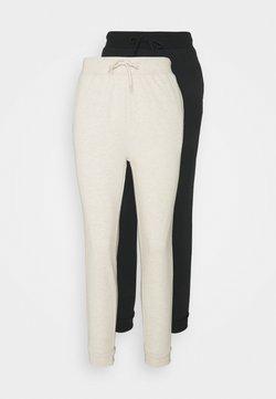 Even&Odd - 2 PACK - Jogginghose - black/mottled beige