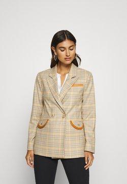 Rich & Royal - CHECKED - Blazer - sunset orange