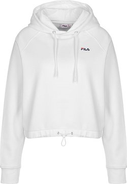 Fila - ELAXI CROPPED - Sweat à capuche - bright white