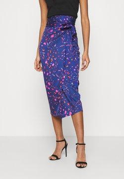 Never Fully Dressed - SPLICE FLORAL WRAP JASPRE - Falda de tubo - multi