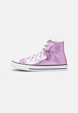 Converse - CHUCK TAYLOR ALL STAR - Korkeavartiset tennarit - pink foam/pure silver/white