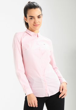 Tommy Jeans - ORIGINAL STRIPE STRETCH - Hemdbluse - pink icing/bright white