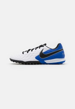 Nike Performance - TIEMPO LEGEND 8 PRO TF - Fotbollsskor universaldobbar - white/black/hyper royal/metallic silver