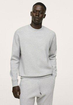 Mango - TEXTURÉ  - Sweter - gris chiné clair