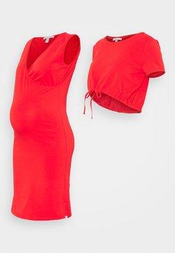Esprit Maternity - DRESS NURSING  2-IN-1 - Jerseykjoler - red