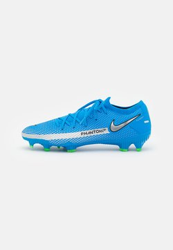Nike Performance - PHANTOM GT PRO FG - Moulded stud football boots - photo blue/metallic silver/rage green