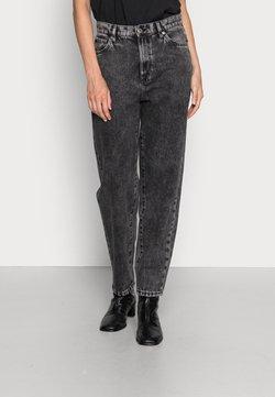 Lindex - TROUSERS PAM BLACK ACID - Straight leg jeans - black