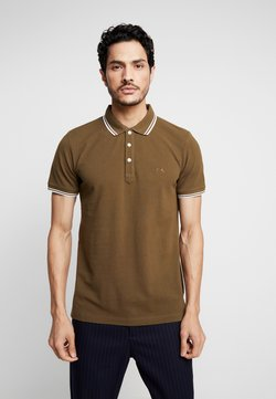 Lindbergh - CONTRAST PIPING - Polo - army