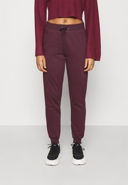 New Look - SLIM LEG JOGGER - Jogginghose - dark burgundy
