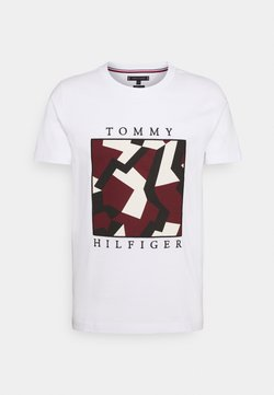 Tommy Hilfiger - DAZZLE BOX TEE - Printtipaita - white