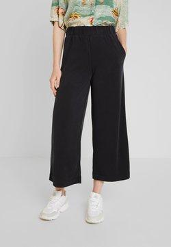 Monki - CILLA FANCY TROUSERS - Pantalones - black