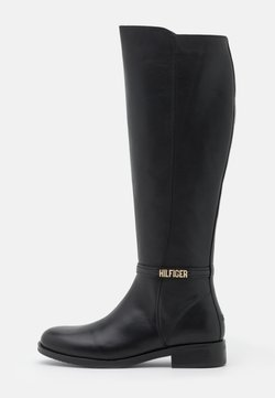 Tommy Hilfiger - BLOCK BRANDING LONG BOOT - Stiefel - black