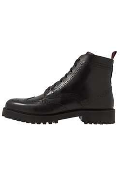 Walk London - SEAN BROGUE BOOT - Schnürstiefelette - black