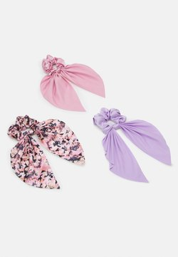 Monki - SAMARA SCRUNCHIES 3 PACK - Accessori capelli - pink/lilac