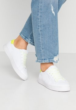 TOM TAILOR - Sneaker low - white/neon yellow