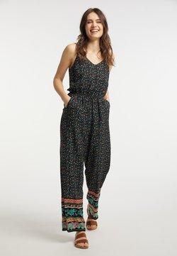 usha - Jumpsuit - schwarz mehrfarbig