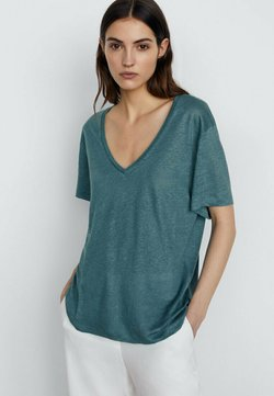 Massimo Dutti - T-Shirt basic - green