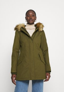 Marc O'Polo - THERMORE SHAPED FIX HOOD FRONT ZIP - Übergangsjacke - natural olive