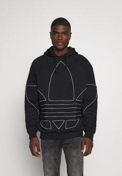 adidas Originals - OUT HOODY - Kapuzenpullover - black/white