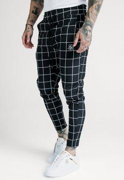 SIKSILK - SMART JOGGER PANT - Stoffhose - black/white