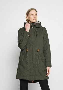 Esprit - WASHED - Parka - khaki green
