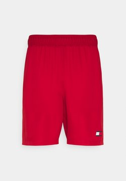 Tommy Hilfiger - LOGO FLAG SHORT - Urheilushortsit - red