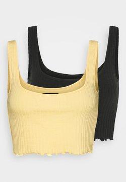 Even&Odd - 2 PACK - Débardeur - black/yellow