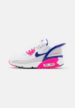 Nike Sportswear - AIR MAX 90 FLYEASE  UNISEX - Baskets basses - white/concord/pink glow/zen grey