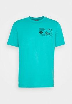 Diesel - T-JUST-A39 MAGLIETTA UNISEX - T-shirt z nadrukiem - turquoise